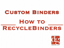 how to recycle binders